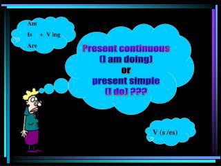 Present continuous (I am doing) or present simple (I do) ???