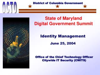 Office of the Chief Technology Officer  Citywide IT Security (CWITS)