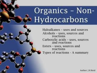 Organics   Non-Hydrocarbons