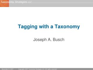 Tagging with a Taxonomy