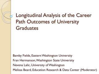 Longitudinal Analysis of the Career Path Outcomes of University Graduates