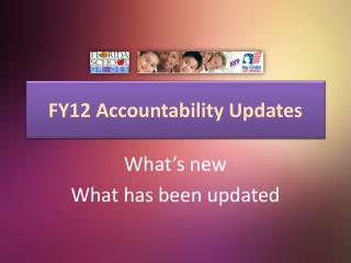 FY12 Accountability Updates