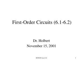 First-Order Circuits (6.1-6.2)