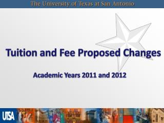 Tuition and Fee Proposed Changes