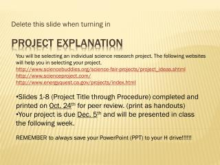 Project explanation