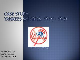 Case study: Yankees salaries  1919 - 1941