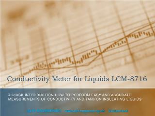 Conductivity Meter for Liquids LCM-8716