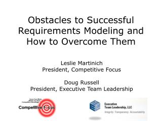 Obstacles to Successful Requirements Modeling and How to Overcome Them