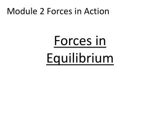 Module 2 Forces in Action