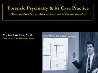 Michael Welner, M.D. Chairman, The Forensic Panel