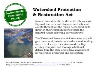 Watershed Protection & Restoration Act