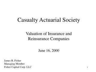 Casualty Actuarial Society