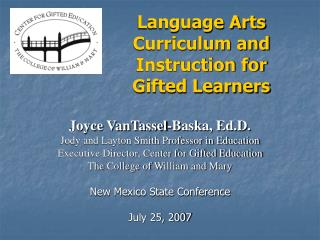 Language Arts Curriculum and Instruction for  Gifted Learners