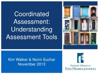 Coordinated Assessment: Understanding Assessment Tools