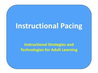 Instructional Pacing
