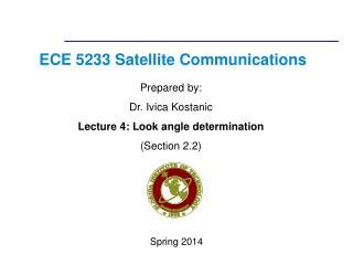 ECE 5233 Satellite Communications