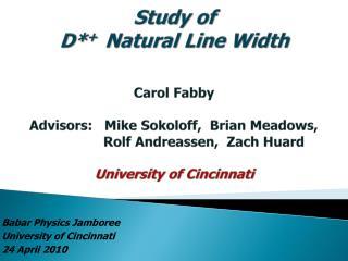 Babar Physics Jamboree University of Cincinnati 24 April 2010