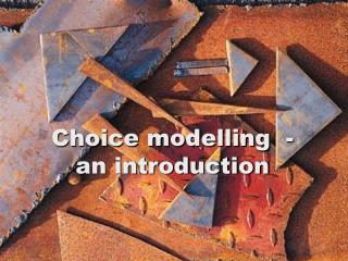 Choice modelling  - an introduction