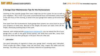 6 Garage Door Maintenance Tips for the Homeowners