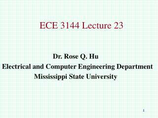 ECE 3144 Lecture 23