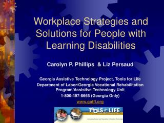 Workplace Strategies and Solutions for People with Learning Disabilities