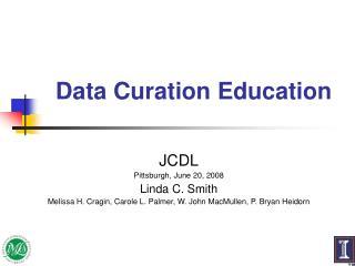 Data Curation Education