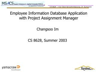 Employee Information Database Application with Project Assignment Manager
