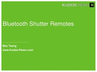 Bluetooth Shutter Remotes