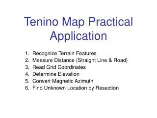 Tenino Map Practical  Application