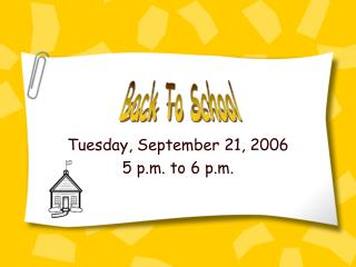 Tuesday, September 21, 2006 5 p.m. to 6 p.m.