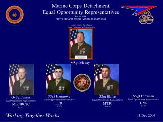 Marine Corps Detachment  Equal Opportunity Representatives PH 6-0718