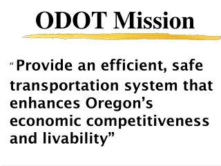 ODOT Mission
