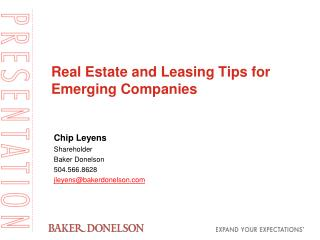 Real Estate and Leasing Tips for Emerging Companies