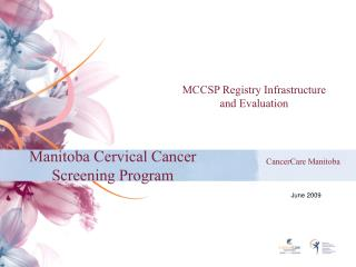 Manitoba Cervical Cancer Screening Program
