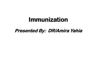 Immunization Presented By:  DR/Amira Yahia