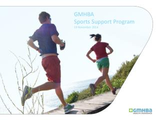 GMHBA Sports Support Program 19 November 2014