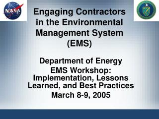 Engaging Contractors in the Environmental Management System (EMS)