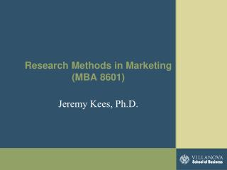 Research Methods in Marketing (MBA 8601)