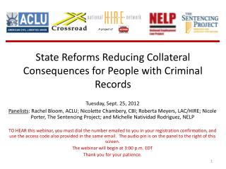 State Reforms Reducing Collateral Consequences for People with Criminal Records