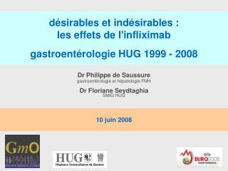 D sirables et ind sirables : les effets de linfliximab  gastroent rologie HUG 1999 - 2008