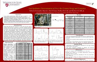 Fast Qualitative Determination of Over-the-Counter Drugs and Cosmetics