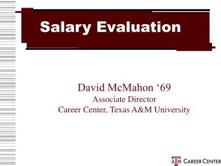 Salary Evaluation
