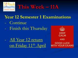 This Week – 11A