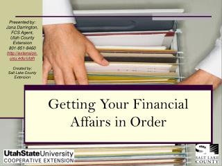 Getting Your Financial Affairs in Order