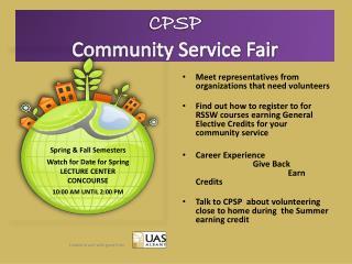 CPSP Community Service Fair