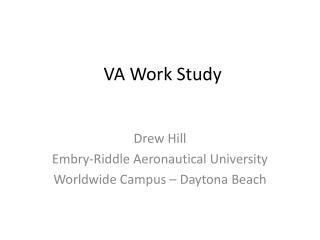 VA Work Study