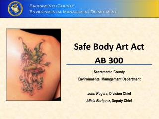 Safe Body Art Act AB 300
