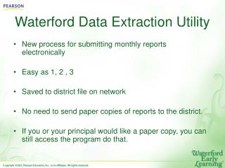 Waterford Data Extraction Utility