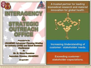 INTERAGENCY  & STRATEGIC OUTREACH OFFICE