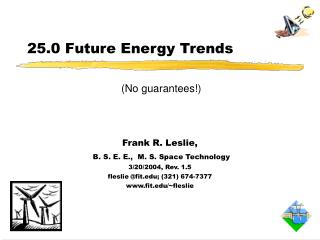 25.0 Future Energy Trends